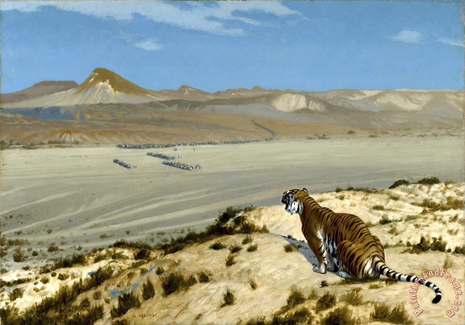 Jean Leon Gerome Tiger on The Watch Art Print