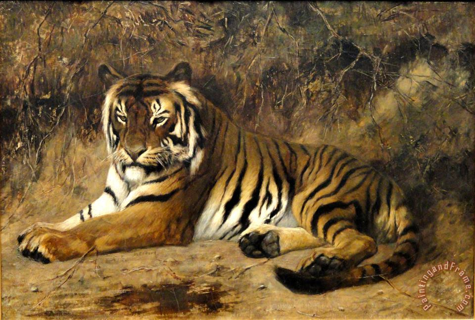 Jean Leon Gerome Tiger Springfield Ma Art Painting