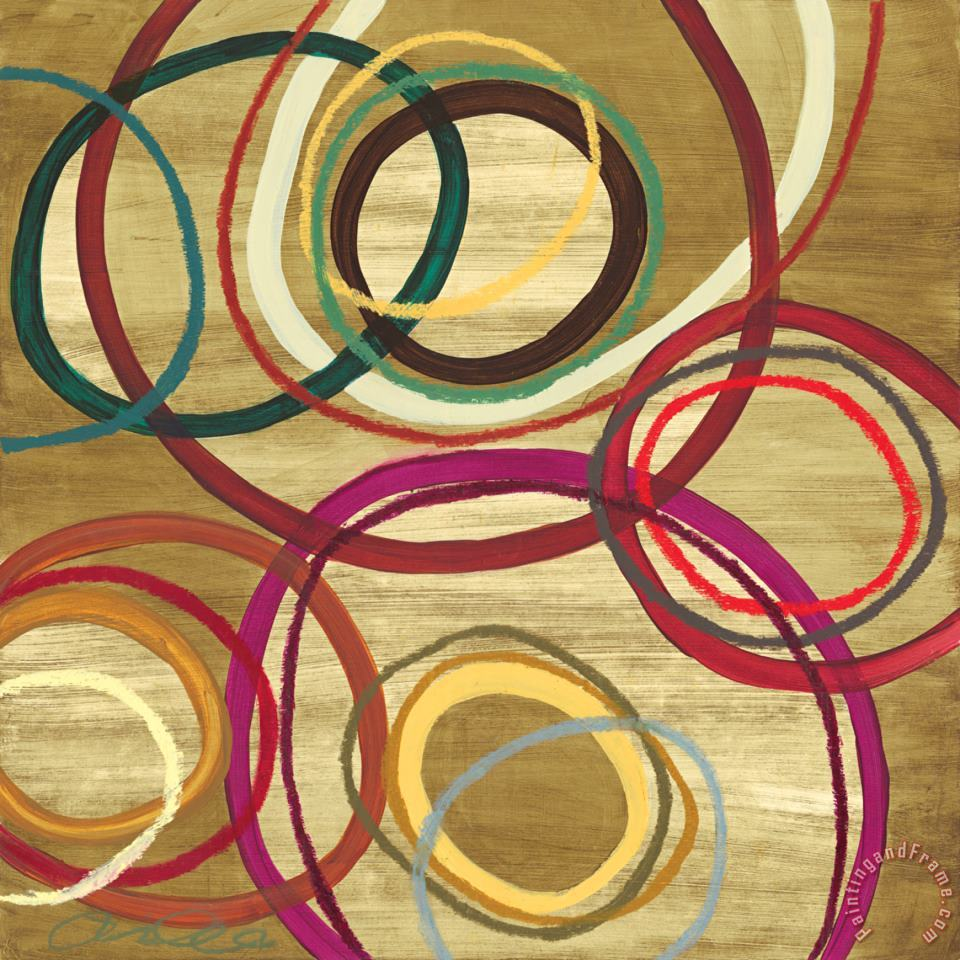 21 Tuesday II Bright Circle Abstract painting - Jeni Lee 21 Tuesday II Bright Circle Abstract Art Print