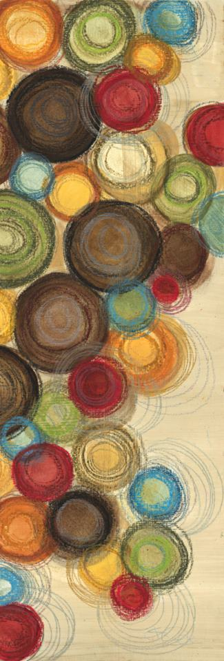 Wednesday Whimsy II Abstract Colorful Circles painting - Jeni Lee Wednesday Whimsy II Abstract Colorful Circles Art Print