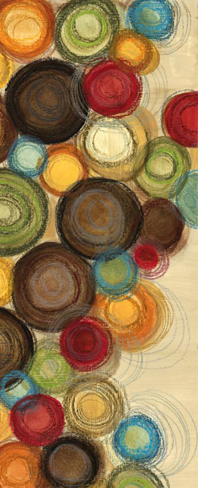 Wednesday Whimsy II Mini Abstract Colorful Circles painting - Jeni Lee Wednesday Whimsy II Mini Abstract Colorful Circles Art Print