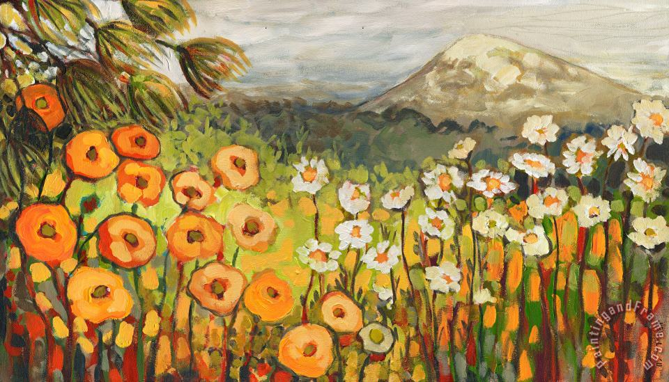 Jennifer Lommers A Mountain View Art Print