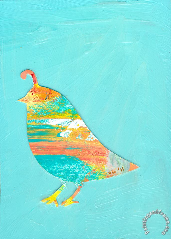Becoming Quail painting - Jennifer Lommers Becoming Quail Art Print
