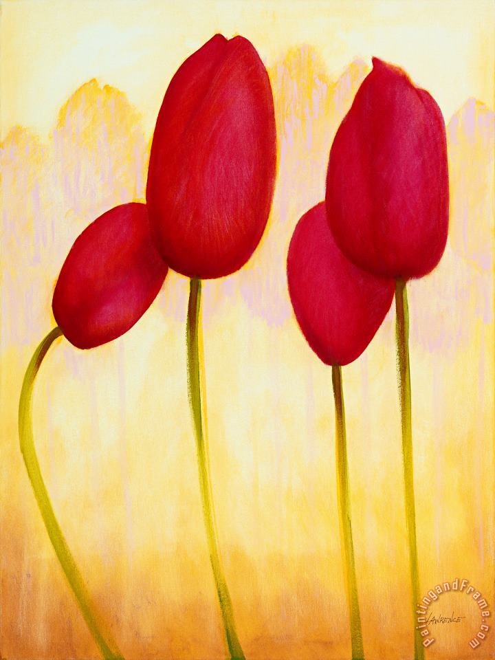 Tulips are People XV painting - Jerome Lawrence Tulips are People XV Art Print