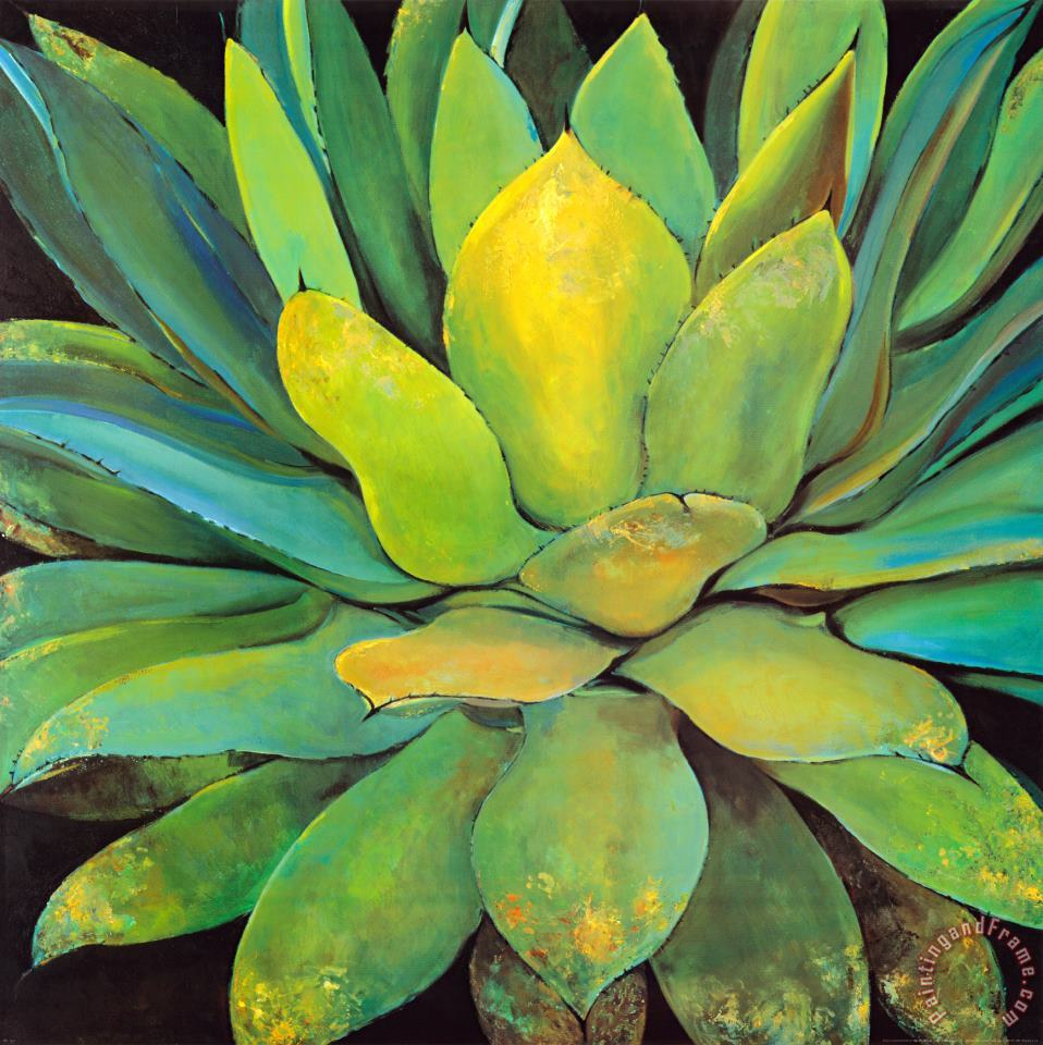 Agave painting - Jillian David Agave Art Print