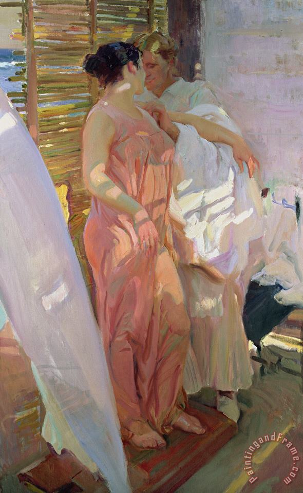 After the Bath painting - Joaquin Sorolla y Bastida After the Bath Art Print
