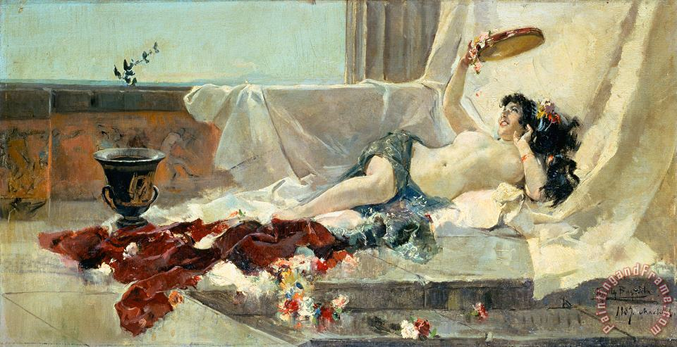 Woman Undressed painting - Joaquin Sorolla y Bastida Woman Undressed Art Print