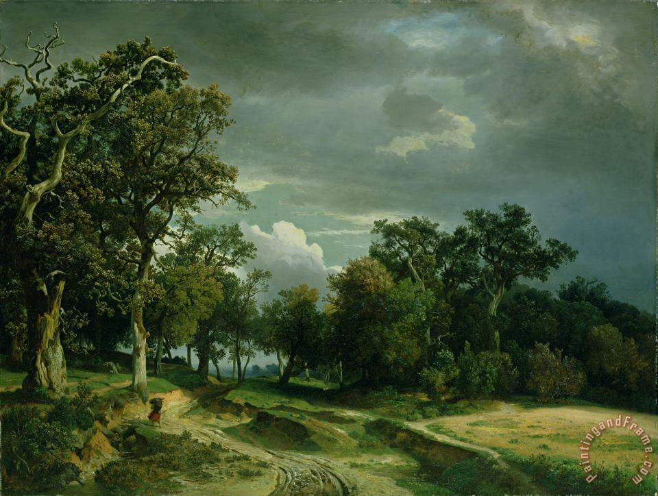 Johann Wilhelm Schirmer The Path on the Edge of the Wood Art Painting