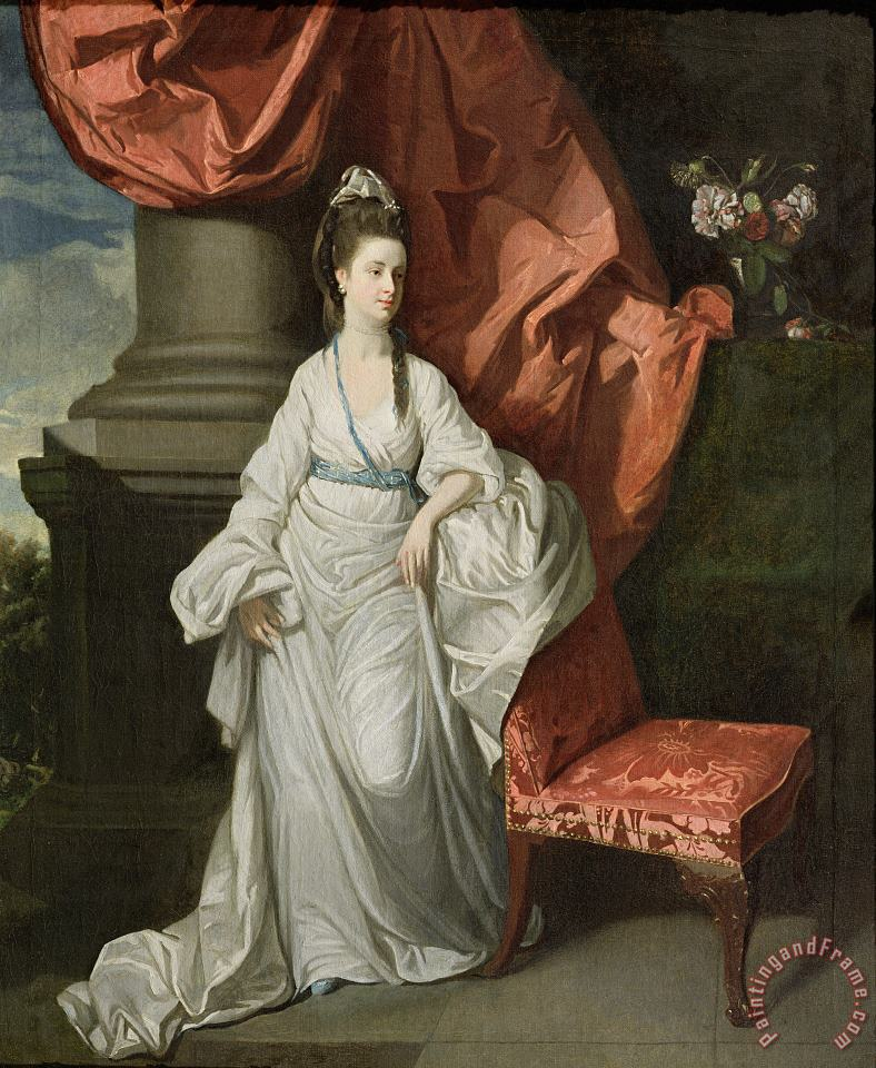 Lady Grant - Wife of Sir James Grant painting - Johann Zoffany Lady Grant - Wife of Sir James Grant Art Print