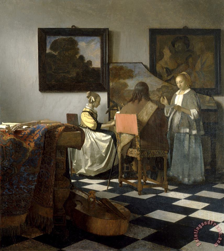 Johannes Vermeer The Concert Art Print