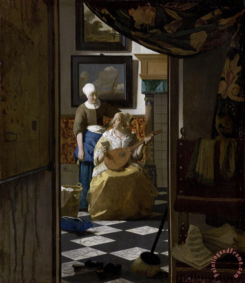 Johannes Vermeer The Love Letter Art Painting