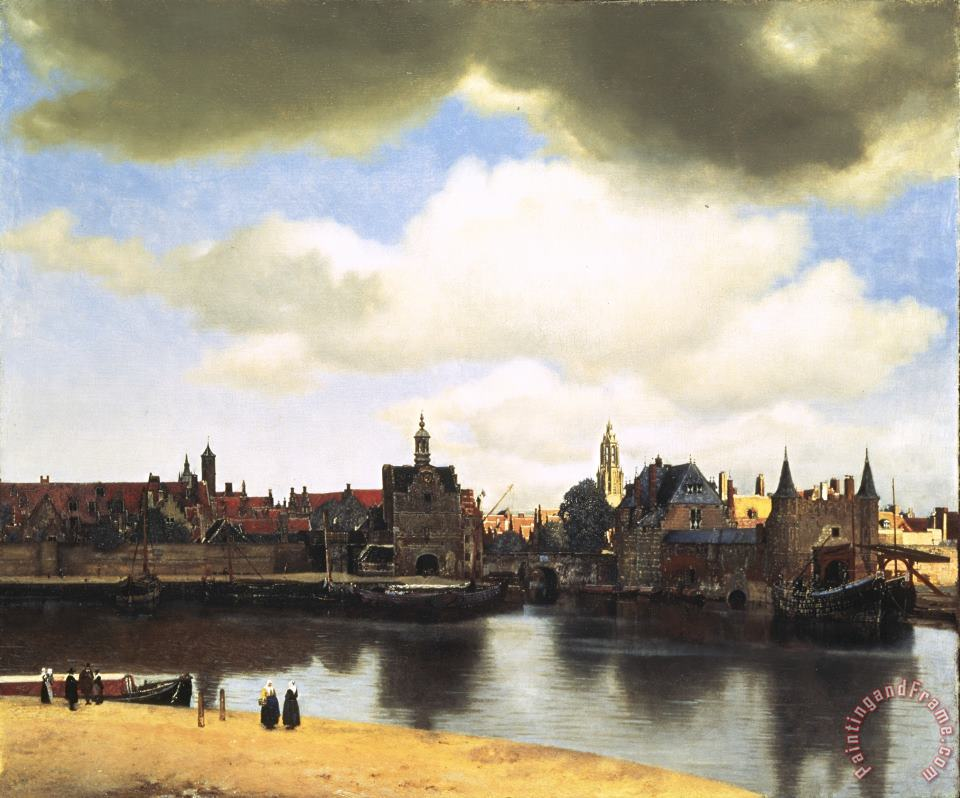 View Of Delft painting - Johannes Vermeer View Of Delft Art Print