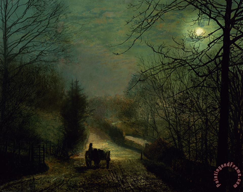 Forge Valley painting - John Atkinson Grimshaw Forge Valley Art Print