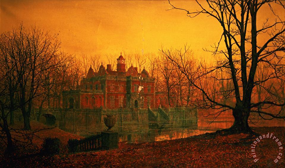 The Haunted House painting - John Atkinson Grimshaw The Haunted House Art Print