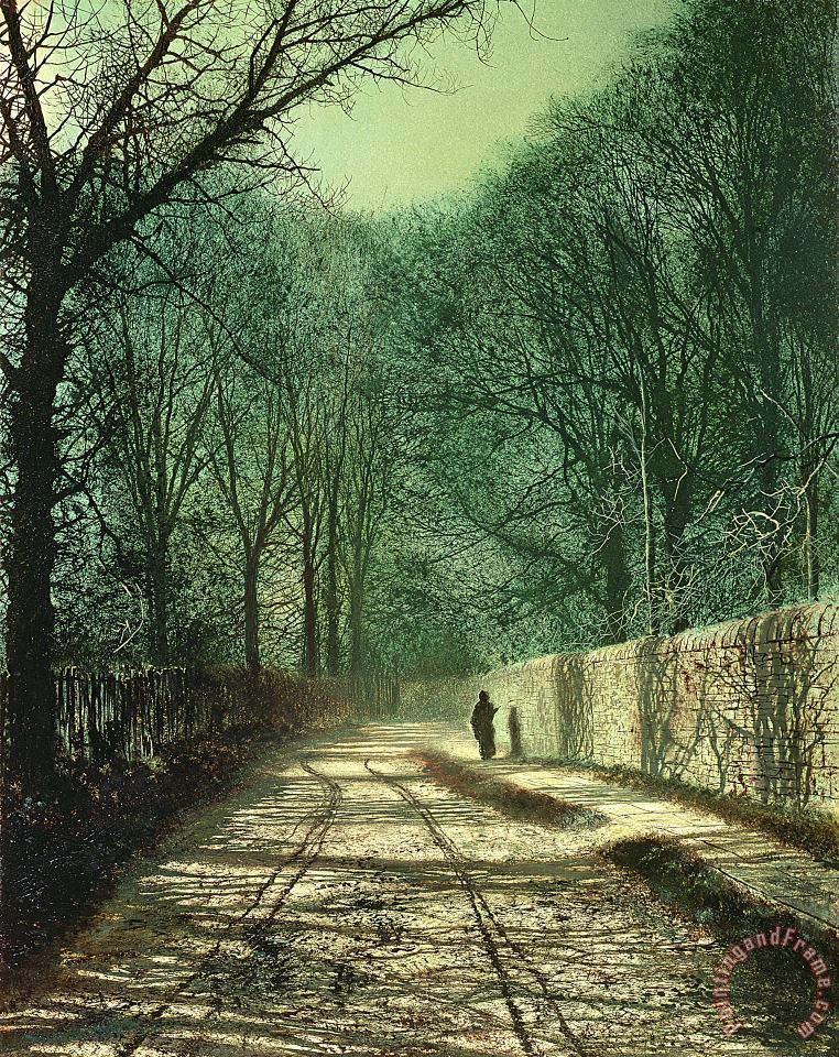 John Atkinson Grimshaw Tree Shadows in the Park Wall Art Painting