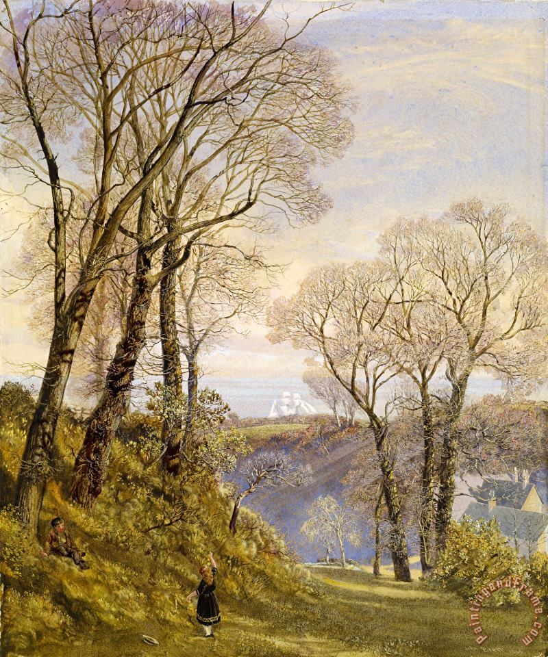 February in The Isle of Wight painting - John Brett February in The Isle of Wight Art Print