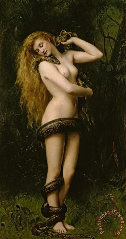 Lilith painting - John Collier Lilith Art Print