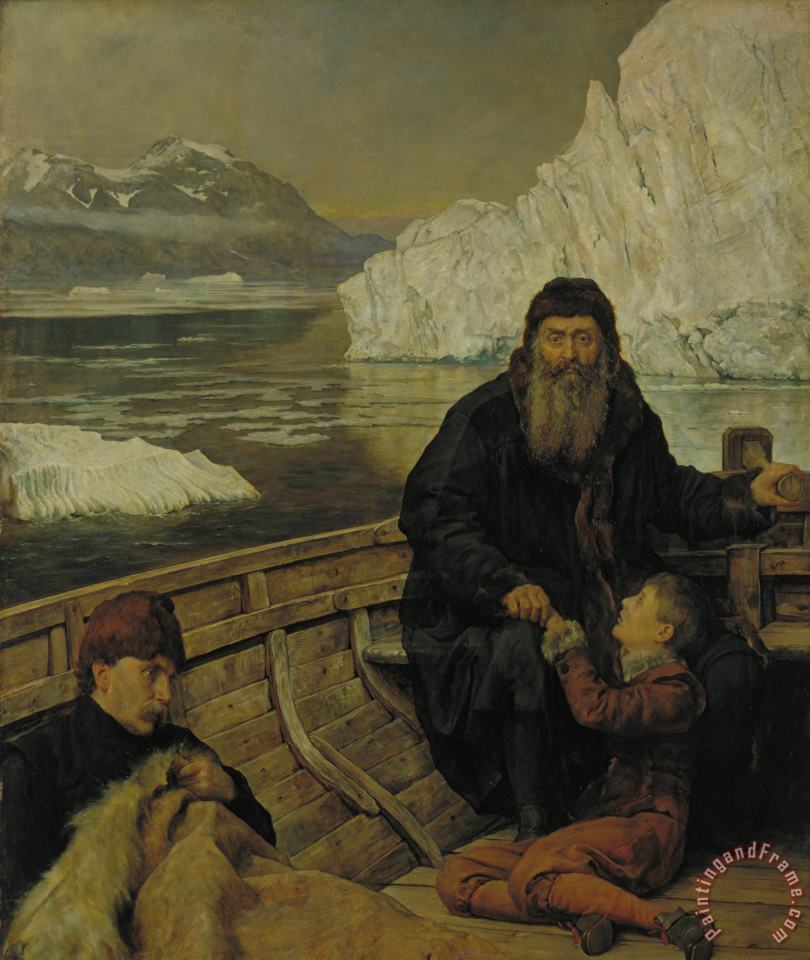 The Last Voyage of Henry Hudson painting - John Collier The Last Voyage of Henry Hudson Art Print