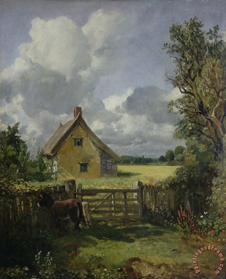 Cottage in a Cornfield painting - John Constable Cottage in a Cornfield Art Print