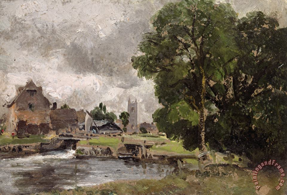Dedham Lock and Mill painting - John Constable Dedham Lock and Mill Art Print