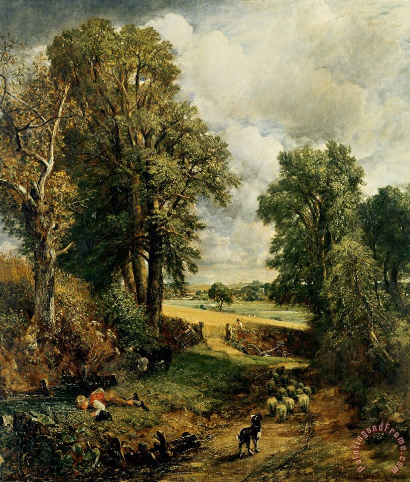 The Cornfield painting - John Constable The Cornfield Art Print