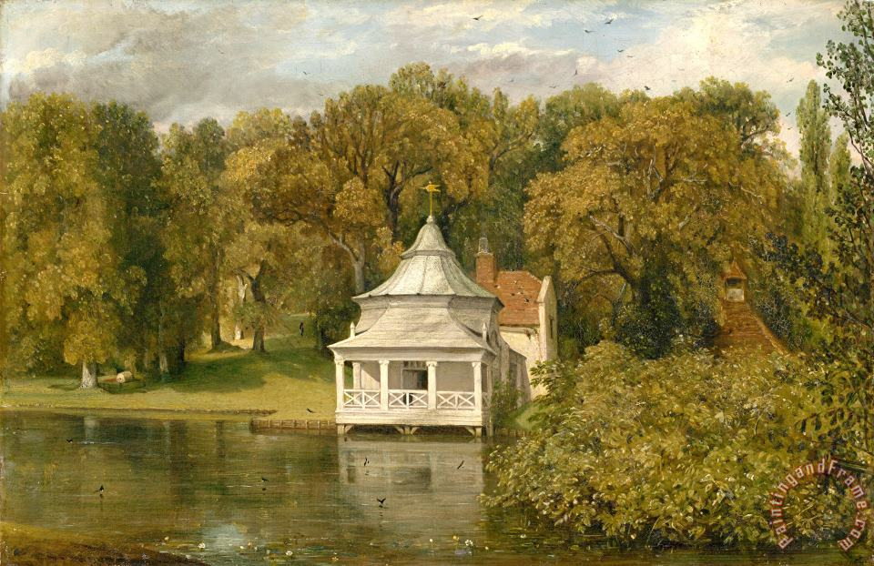 The Quarters Behind Alresford Hall painting - John Constable The Quarters Behind Alresford Hall Art Print