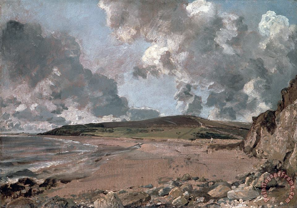 John Constable Weymouth Bay with Jordan Hill Art Painting