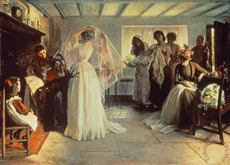 John Henry Frederick Bacon The Wedding Morning Art Print