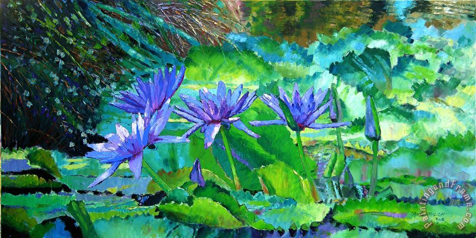 John Lautermilch Harmony of Purple and Green Art Print