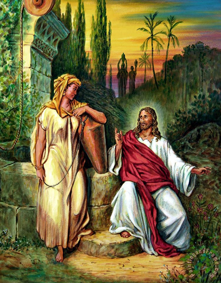 John Lautermilch Jesus and the Woman at the Well Art Print