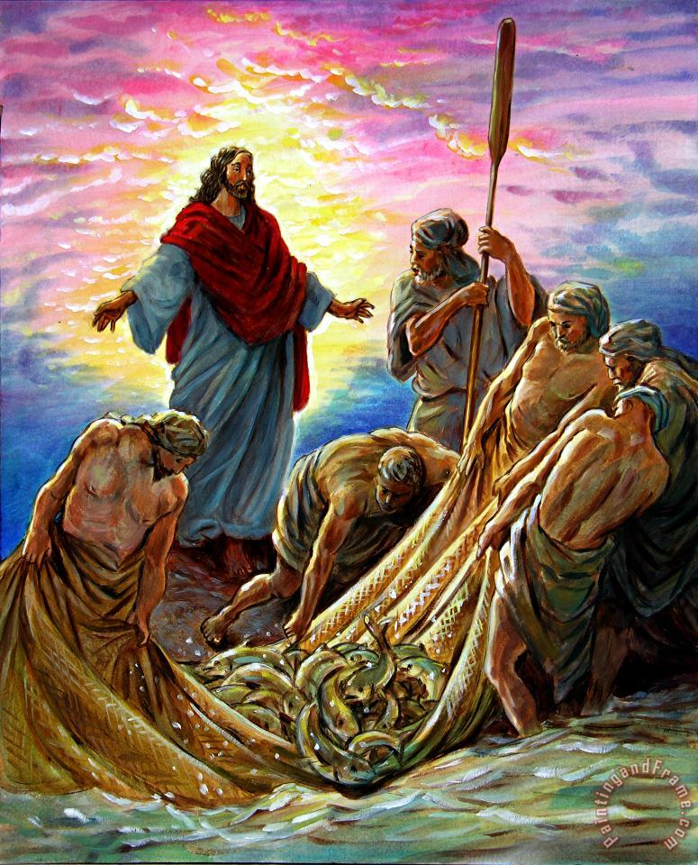 Jesus Appears to the Fishermen painting - John Lautermilch Jesus Appears to the Fishermen Art Print