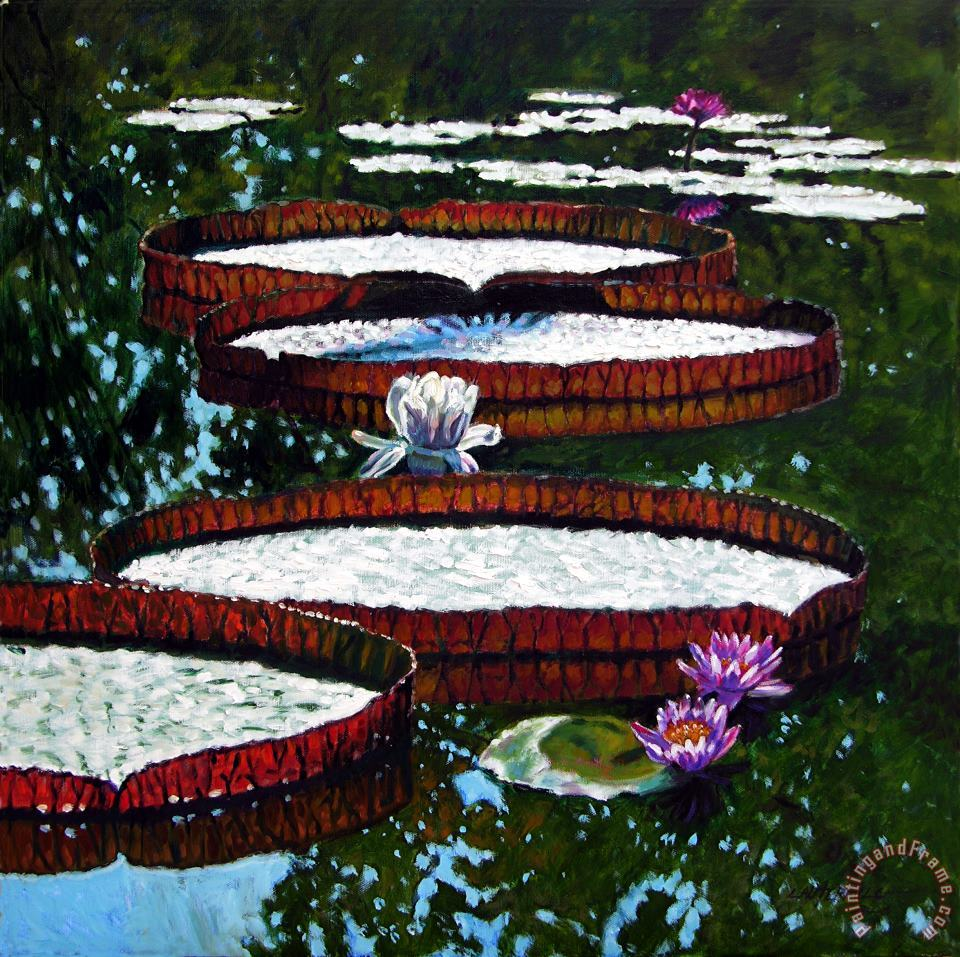 John Lautermilch Lily Pad Highlights Art Print