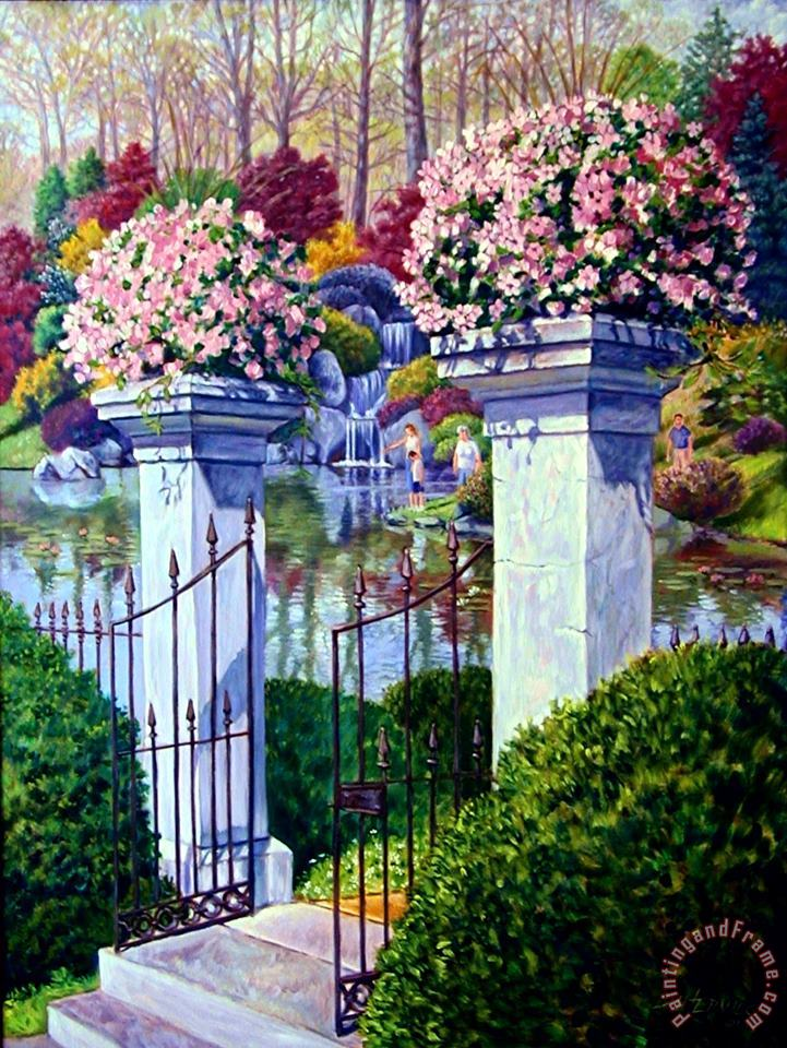 Peace in the Garden painting - John Lautermilch Peace in the Garden Art Print