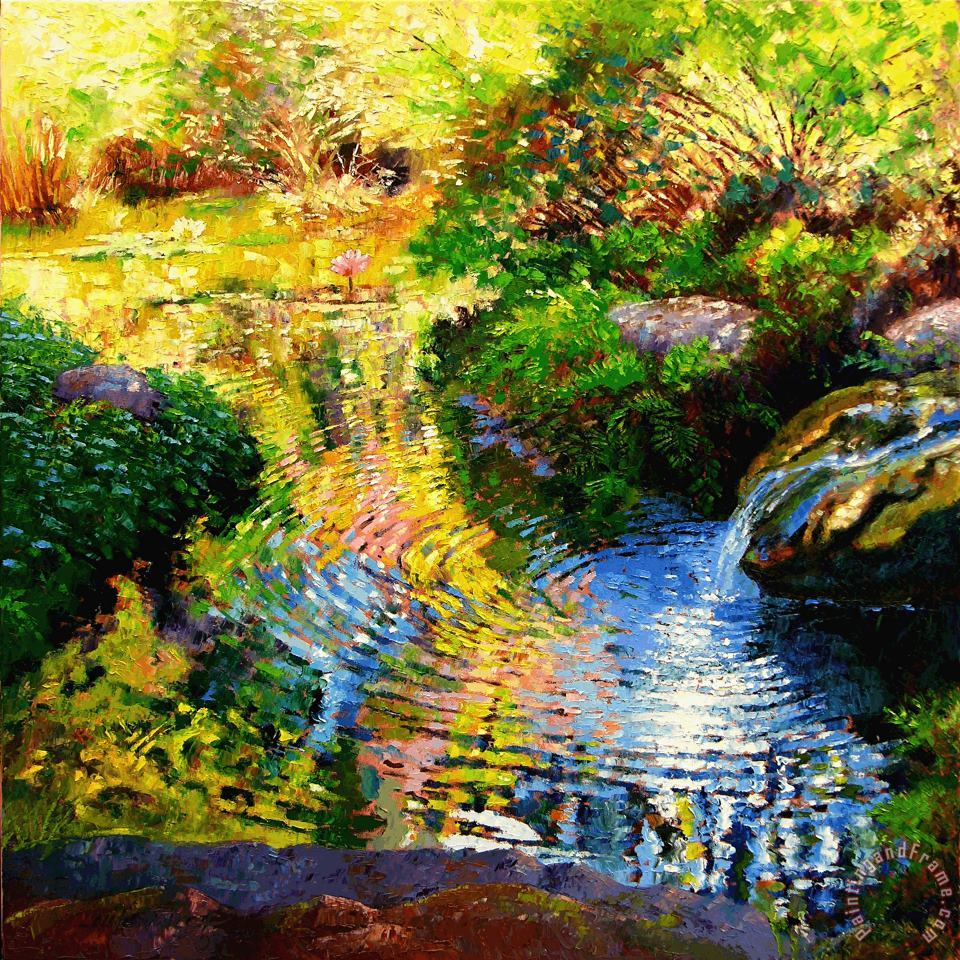 Ripples on a Quiet Pond painting - John Lautermilch Ripples on a Quiet Pond Art Print