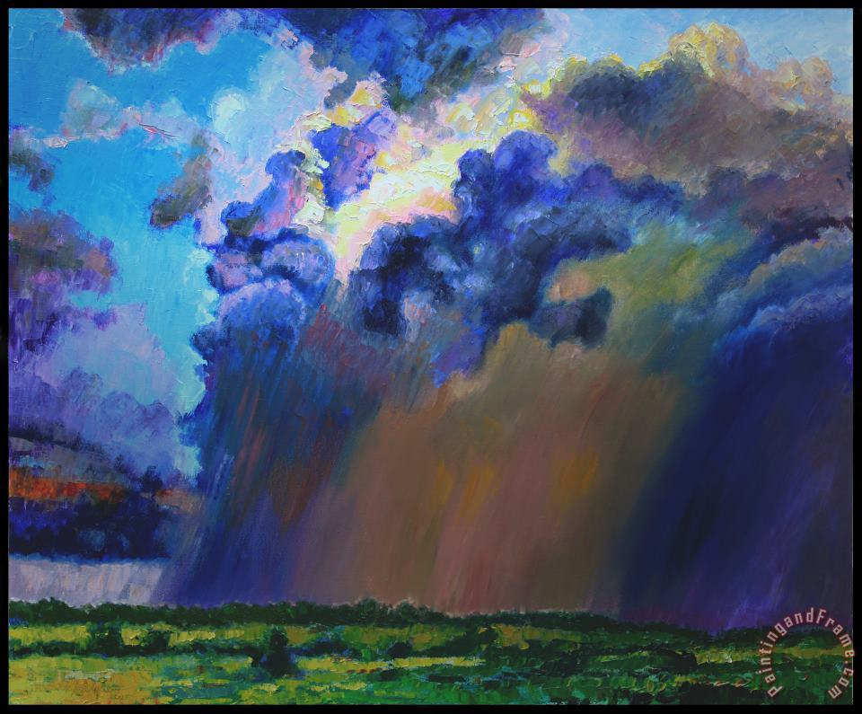 Storm Clouds Over Missouri painting - John Lautermilch Storm Clouds Over Missouri Art Print