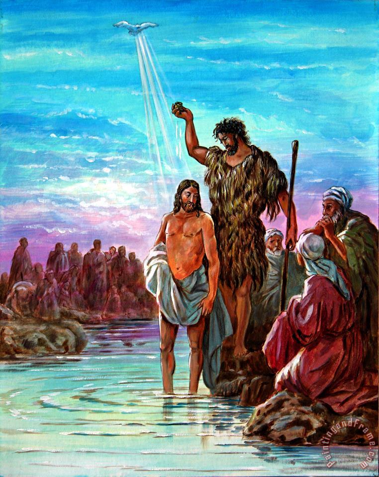 John Lautermilch The Baptism of Jesus Art Painting