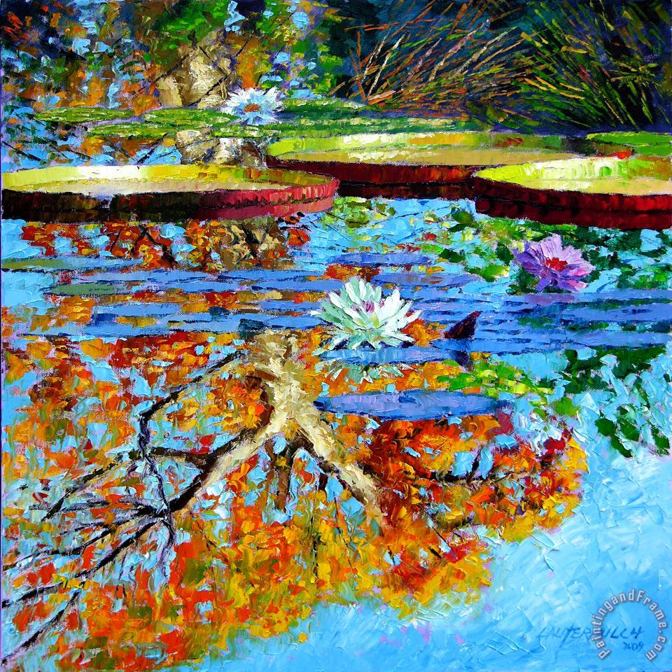 The Reflections of Fall painting - John Lautermilch The Reflections of Fall Art Print