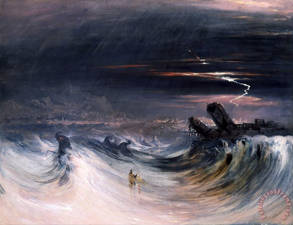 Destruction of Tyre painting - John Martin Destruction of Tyre Art Print