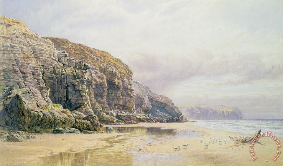 The Coast of Cornwall painting - John Mogford The Coast of Cornwall Art Print