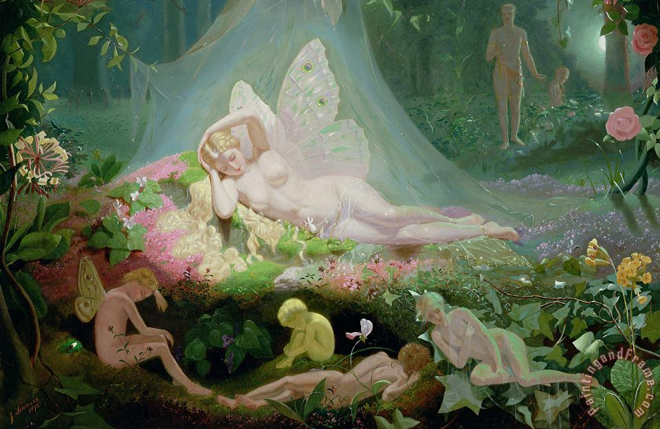 John Simmons There Sleeps Titania Art Print