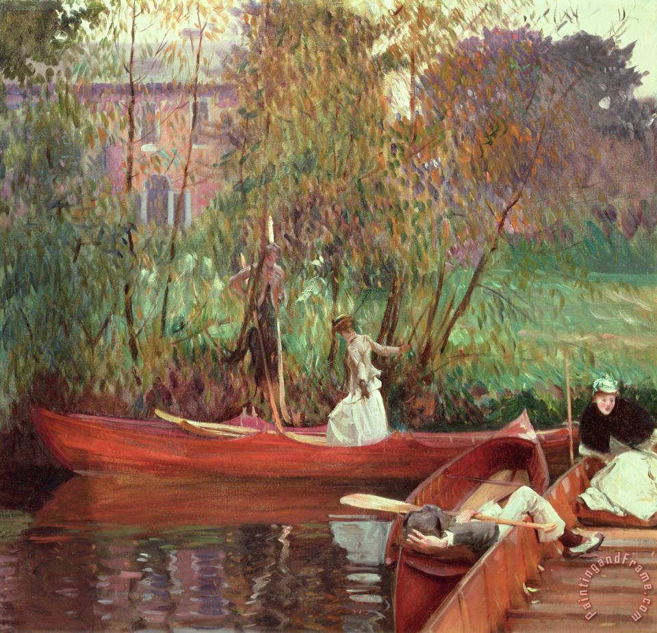 A Boating Party painting - John Singer Sargent A Boating Party Art Print
