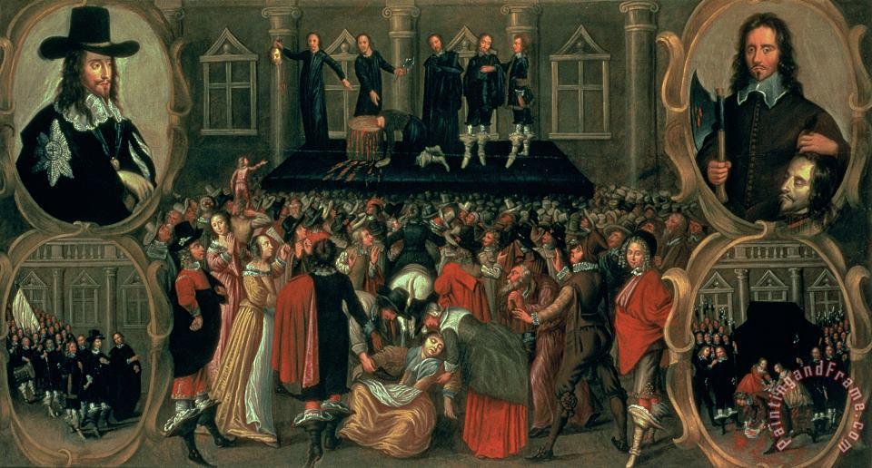 John Weesop An Eyewitness Representation of the Execution of King Charles I Art Print