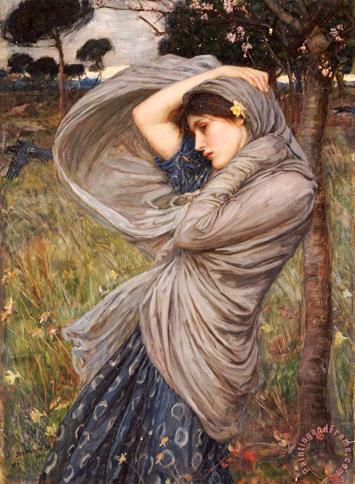 John William Waterhouse Boreas Art Print