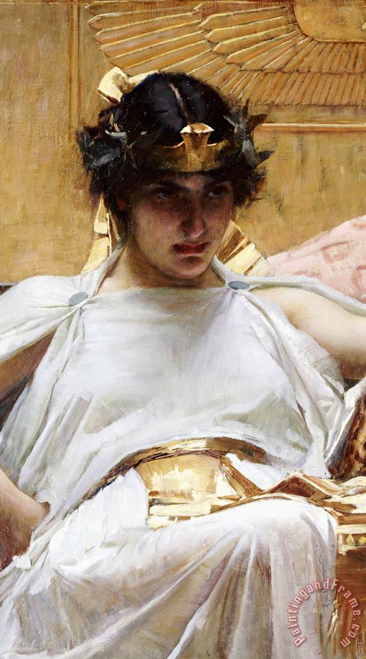 Cleopatra painting - John William Waterhouse Cleopatra Art Print