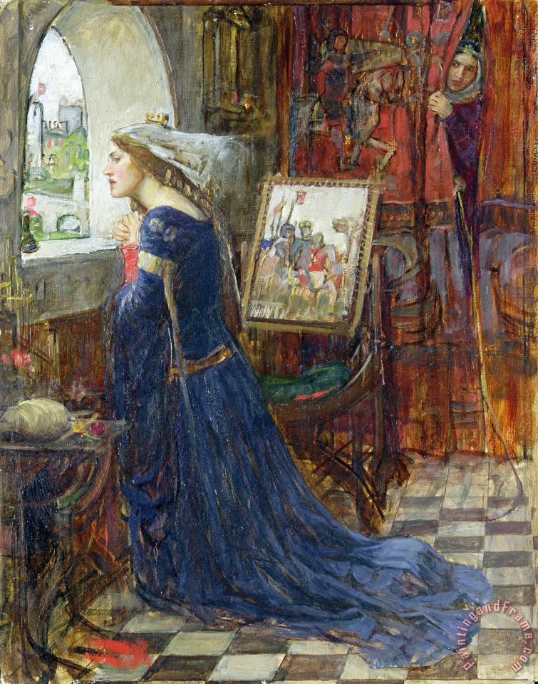 Fair Rosamund painting - John William Waterhouse Fair Rosamund Art Print