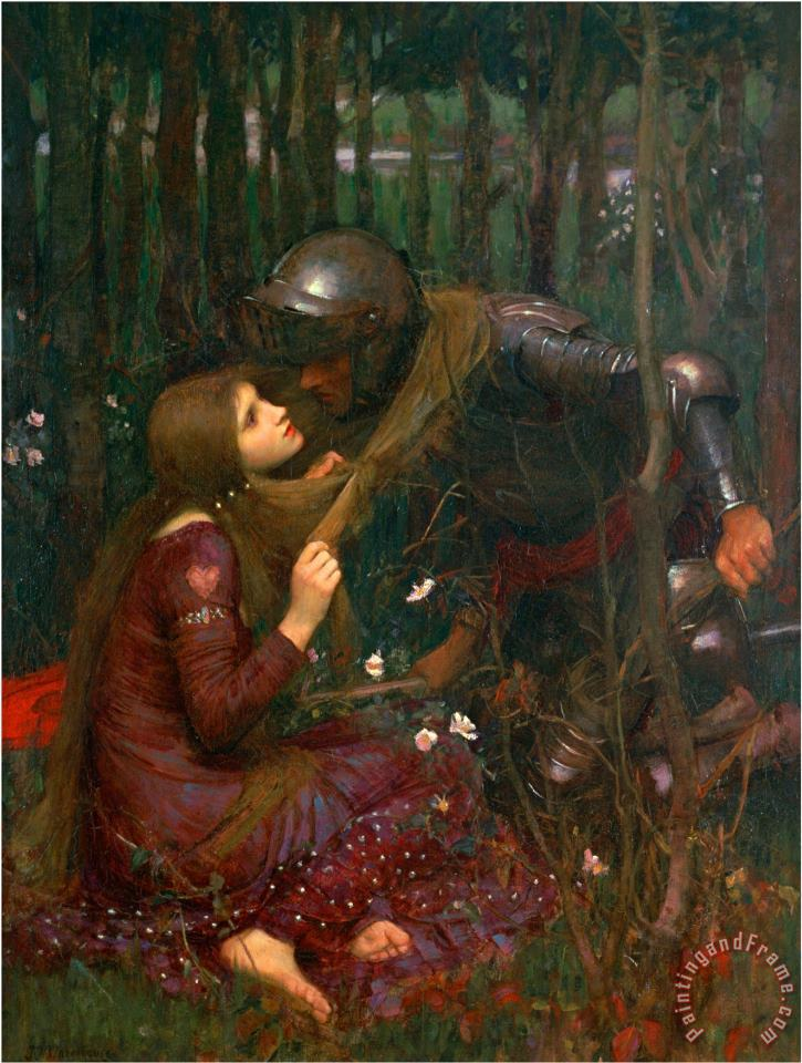 La Belle Dame Sans Merci 1893 painting - John William Waterhouse La Belle Dame Sans Merci 1893 Art Print
