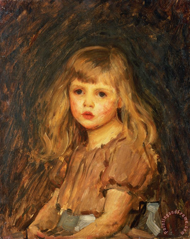 Portrait of a Girl painting - John William Waterhouse Portrait of a Girl Art Print