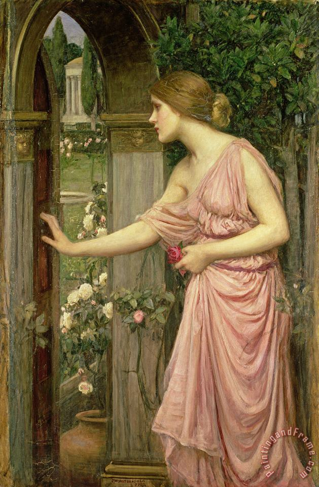 John William Waterhouse Psyche entering Cupid's Garden Art Print