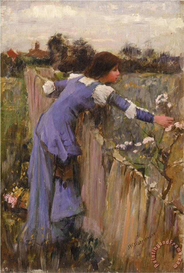 The Flower Picker Oil on Canvas painting - John William Waterhouse The Flower Picker Oil on Canvas Art Print