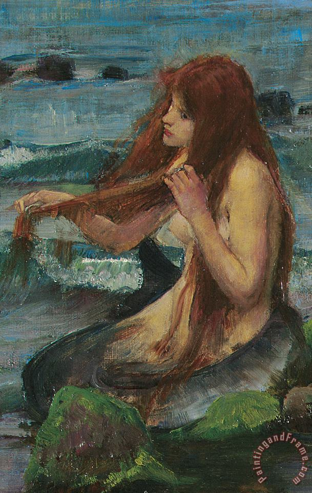 John William Waterhouse The Mermaid Painting The Mermaid Print For Sale